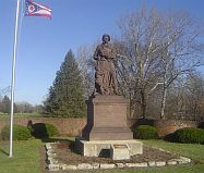 Madonna of the Trail image located in Springfield, Ohio